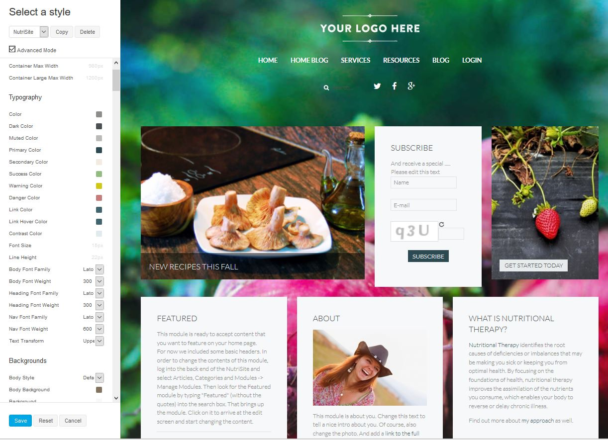 Template Customizer: Choose any Yootheme template and change it to fit